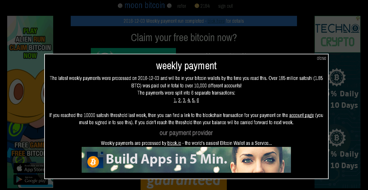 Review: Moon Bitcoin (moonbit.co.in) – Free bitcoin faucet – digital ...